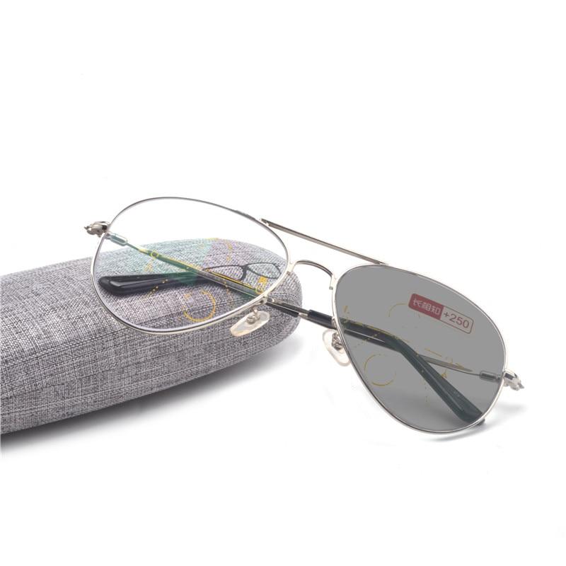 Очки-авиаторы мужские с мультифокальными линзами, супер большая оправа, в ретро стиле, фотохромные солнечные очки для чтения, уличные солнцезащитные очки uv400 FML