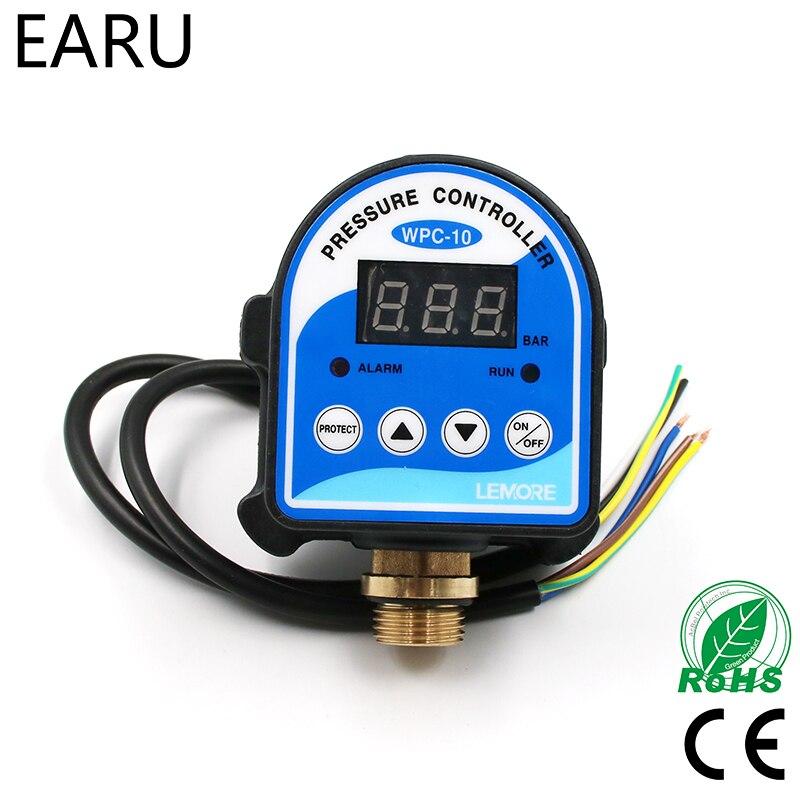 "WPC-10 de agua Digital con pantalla Digital, controlador electrónico de presión de agua WPC 10 con adaptador G1/2 "", 1 unidad"