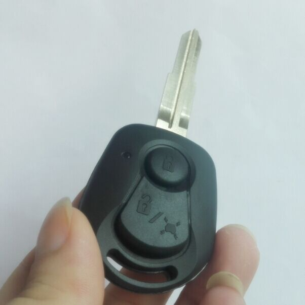Funda para mando a distancia Ssangyong con 2 botones, funda para llave Actyon SUV Kyron Rexton, carcasa en blanco