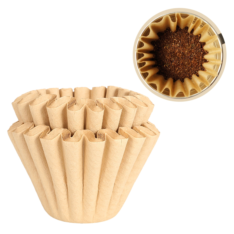 Behogar 50 Uds papeles de filtro de café en forma de onda para 1-2 tazas de café por goteo eléctrico Oficina hogar apartamento