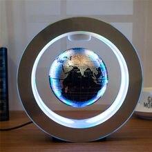 Novidade led flutuante globo levitação magnética luz da noite redonda bola antigravidade para crianças presentes mapa do mundo lâmpada de cabeceira