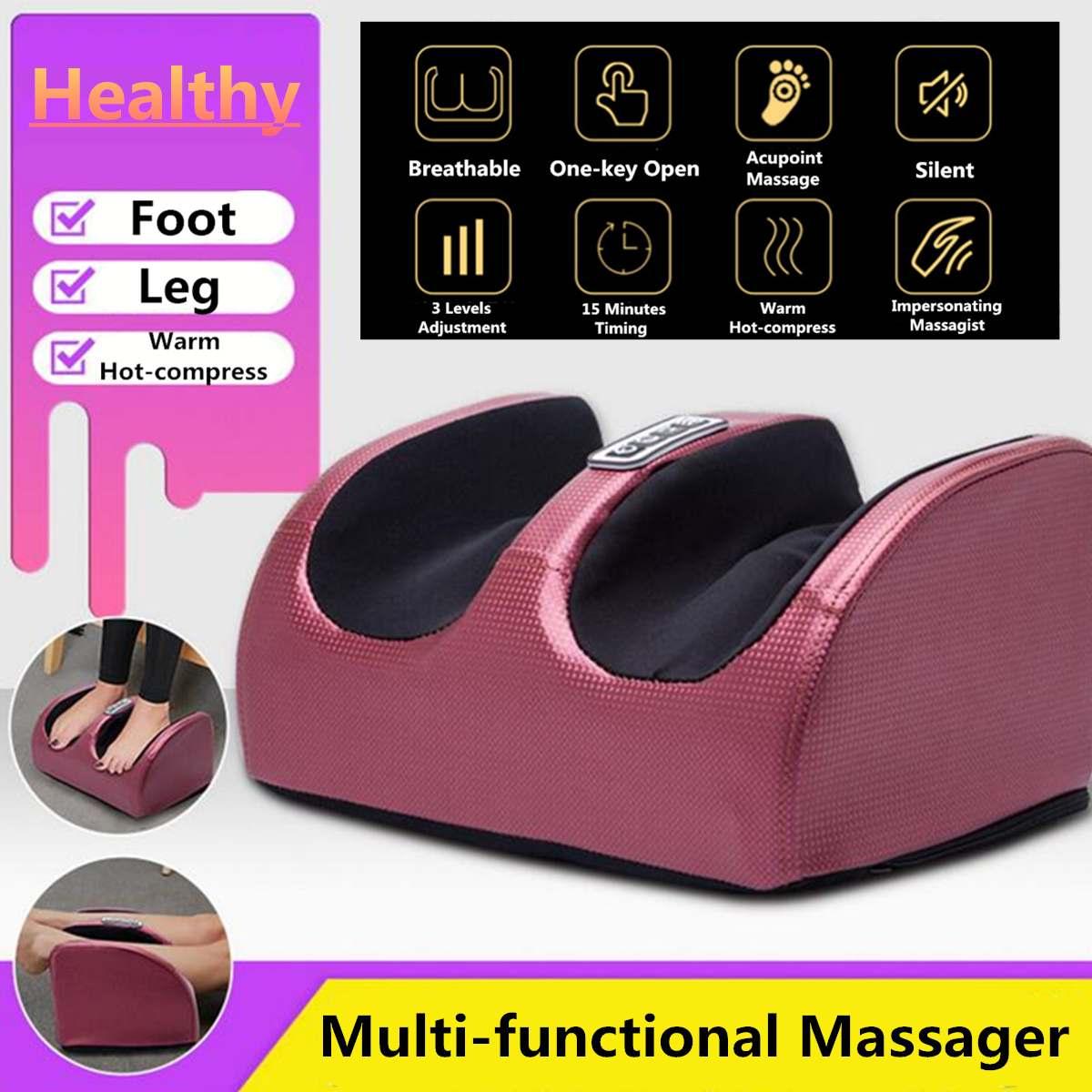 Massageador corporal elétrico 220v, rolo para relaxamento, máquina de reflexologia, alívio da dor nas pernas, rolo para relaxamento