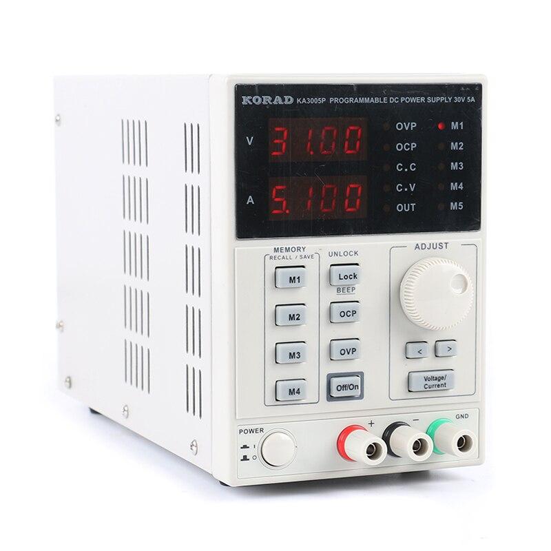 KORAD KA3005P برمجة دقيقة قابلة للتعديل 30 فولت 5A تيار مستمر خطي امدادات الطاقة الرقمية ينظم مختبر الصف USB RS232 واجهة