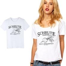 Clairement Schrute fermes lit et petit déjeuner femmes T Shirt drôle bureau TV Show fille t-shirt hauts Casaul Cool manches courtes