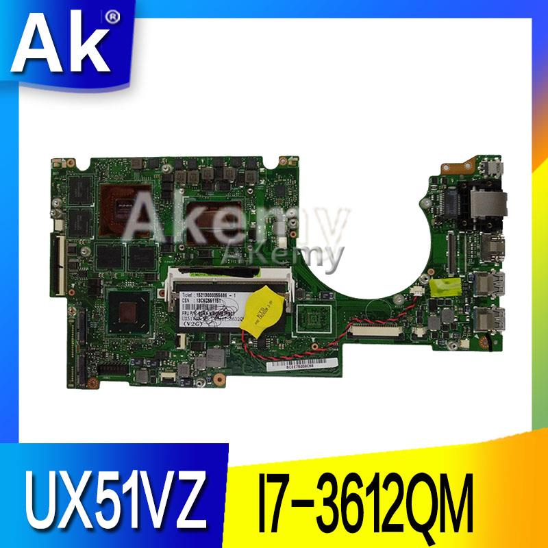 UX51VZ материнская плата i7-3612QM SR0MR cpu GT650 2 ГБ для ASUS UX51VZ UX51VZA REV 2,0 материнская плата для ноутбука UX51VZ mianboard (обмен)