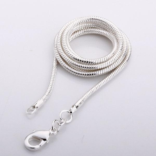 Hot!!! Preço de atacado colar de serpente de prata 2mm, 925 colar de corrente de prata esterlina, jóia de Prata por atacado