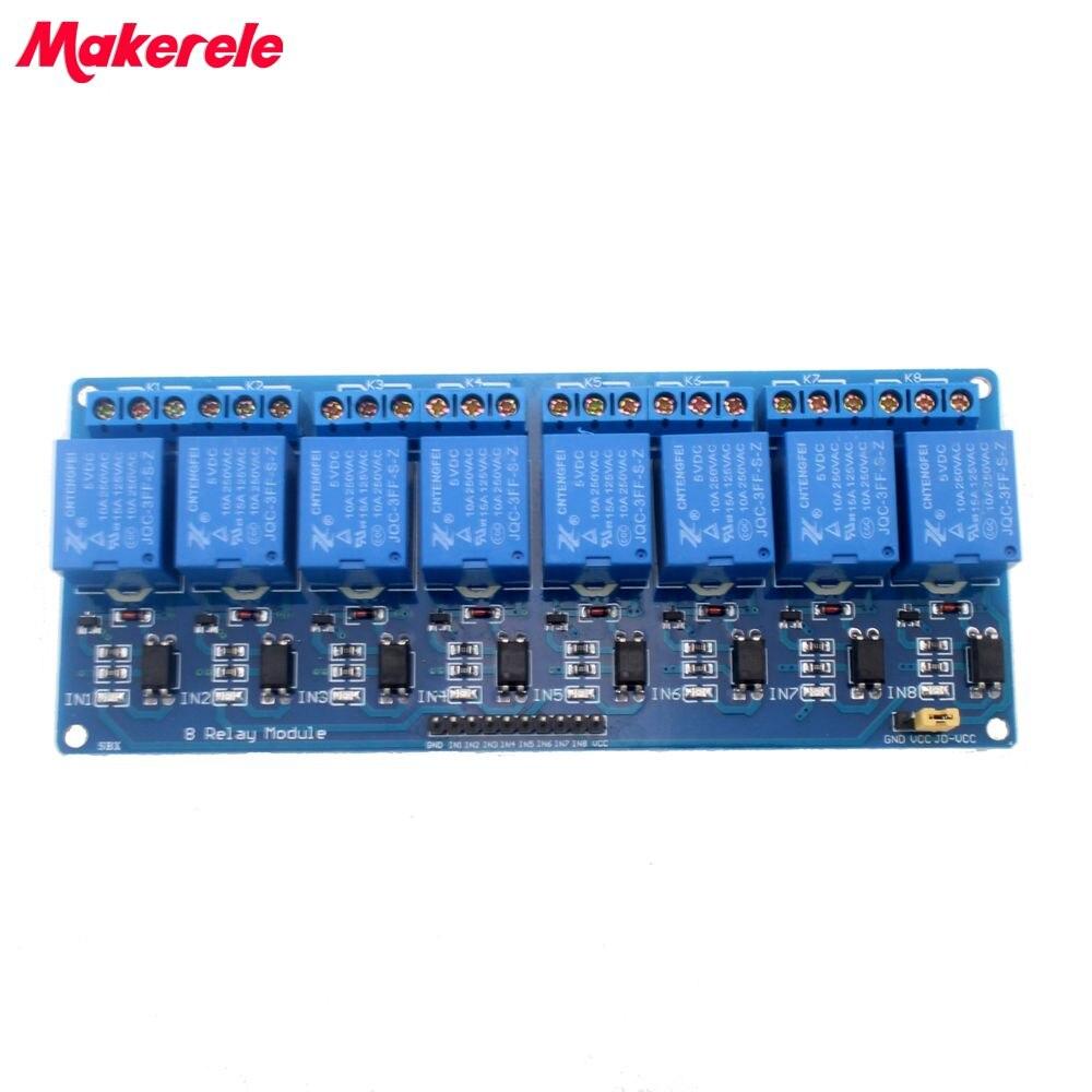 Módulo de relé de 8 canales y 8 canales con relé PLC de panel de control de 5V para gran oferta en stock.8 road módulo de relé de 5V envío gratis