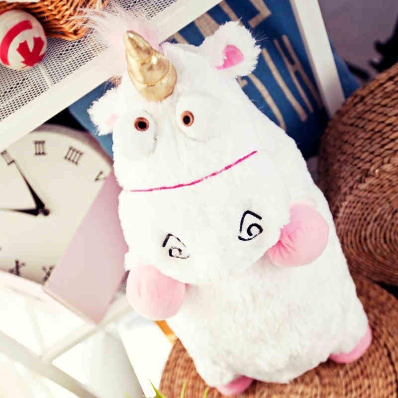 Kawaii 55CM de gran tamaño unicornio esponjoso Juguetes de felpa suave animal relleno Peluche de unicornio muñecas Juguetes de Peluches Bebe niñas regalo