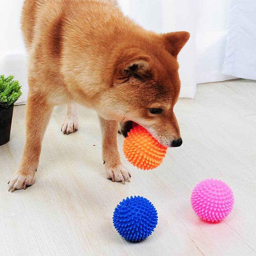 Juguetes que suenan divertidas mascotas perro cachorro pelota de juguete para gato PVC masticar sonido perros jugar Fetching Squeak juguetes suministros para mascotas