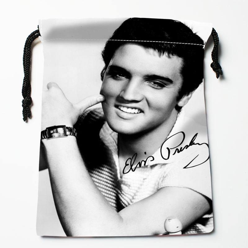 High quality Custom Elvis Presley printing storage bag drawstring bag gift Satin bags 18*22cm Compression Type Bags