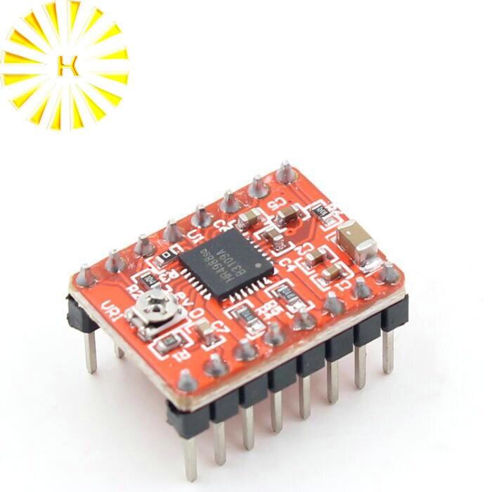 Piezas de impresora 3D CNC, accesorio Reprap pololu A4988, módulo controlador de motor paso a paso con disipador térmico para conector rampas 1,4