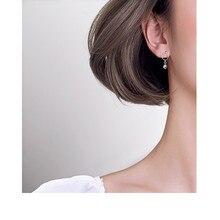 S925 sterling silver cat 또 귀걸이랑 cute 벨 숏 또 귀걸이랑 기질 성격 절묘한 또 귀걸이랑 한국어 simple 보석