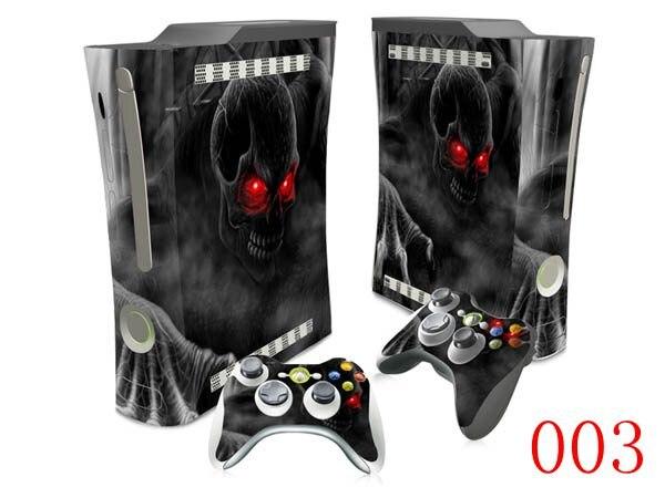 OSTSTICKER ojos rojos pegatina de calavera para Microsoft Xbox 360 pegatina de piel grasa pegatina de piel para Xbox 360 calcomanía de cráneo gordo