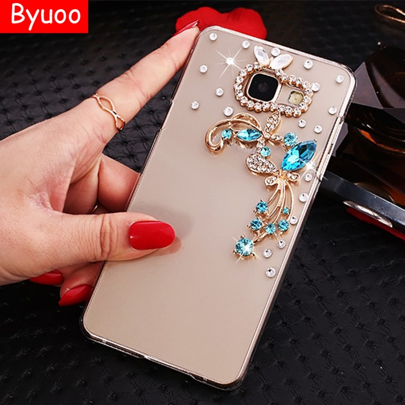 Byuoo diamante Bling para Samsung Galaxy J105 DE CASO caso de teléfono para Samsung Galaxy J1 mini 2016 J105 SM J105H Galaxy J1 Nxt cubierta