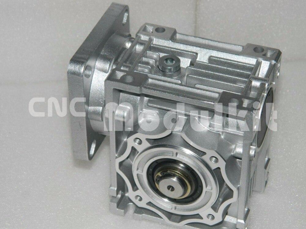 Nmrv040 worm gear redutor nema 34 motor deslizante turbina 86x86 redutor caixa de velocidades saída eixo 18mm planeta motor cnc modulkit