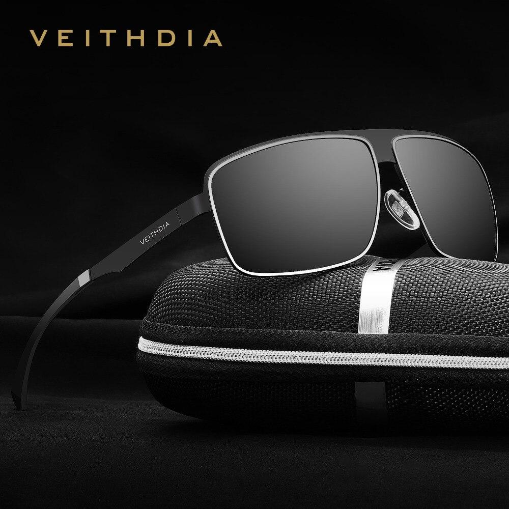 VEITHDIA Sunglasses Sports Aluminum Outdoor Driving Polarized UV400 Men's Square Vintage Sun Glasses Male Eyewear For Men 2492