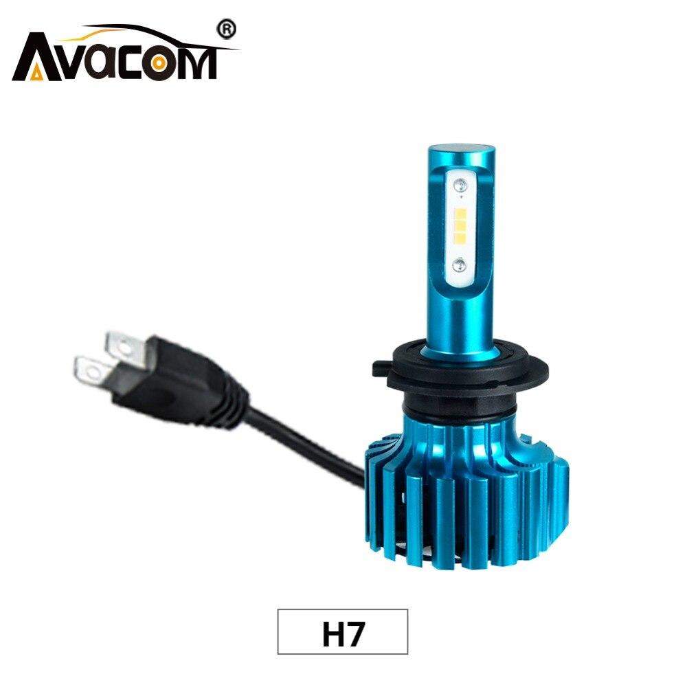 Faros delanteros Avacom 2 uds LED H7 Turbo para automóviles 12V 6500K Super blanco CSP 12000Lm 72W 24V H7 bombilla LED de coche para motocicleta camión