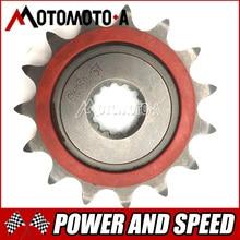 Frete grátis motocicleta melhorada roda dentada roda de corrente dianteira da mosca roda 15 t para suzuki gw250 gsx250r dl250 1pc