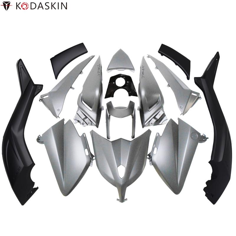كوداسكين Tmax رمادي اللون ثلاثية الأبعاد ABS البلاستيك حقن Tmax530 هدية عدة هيكل السيارة البراغي لياماها Tmax530 2012 2013 2014