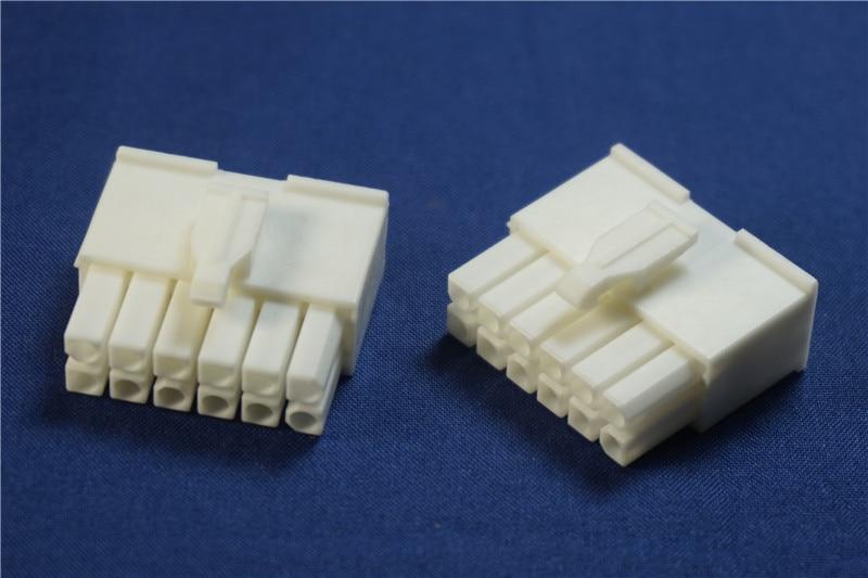 "10 Uds carcasa de enchufe 2x6 posición 12 Pin conector 4,14mm 0.163 ""doble fila Mini Universal mate-n-lok Cruz Rectangular 770581-1"