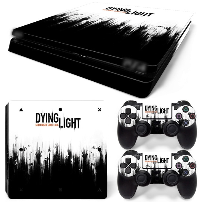 Бесплатная Прямая поставка Виниловая наклейка для PS4 Slim Skin Наклейки обертывание для Sony PlayStation 4 Slim консоль и 2 контроллера Скины
