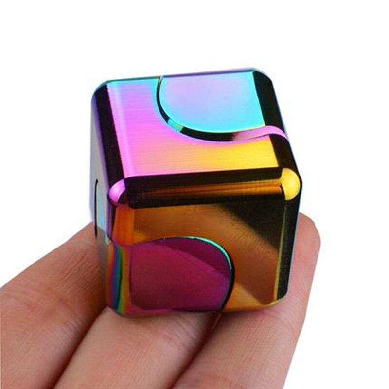 Renkli iplik Fidget Spinner stres kabartma oyuncaklar Metal el Spinner sessiz üst parmak Spinner erkekler kadınlar