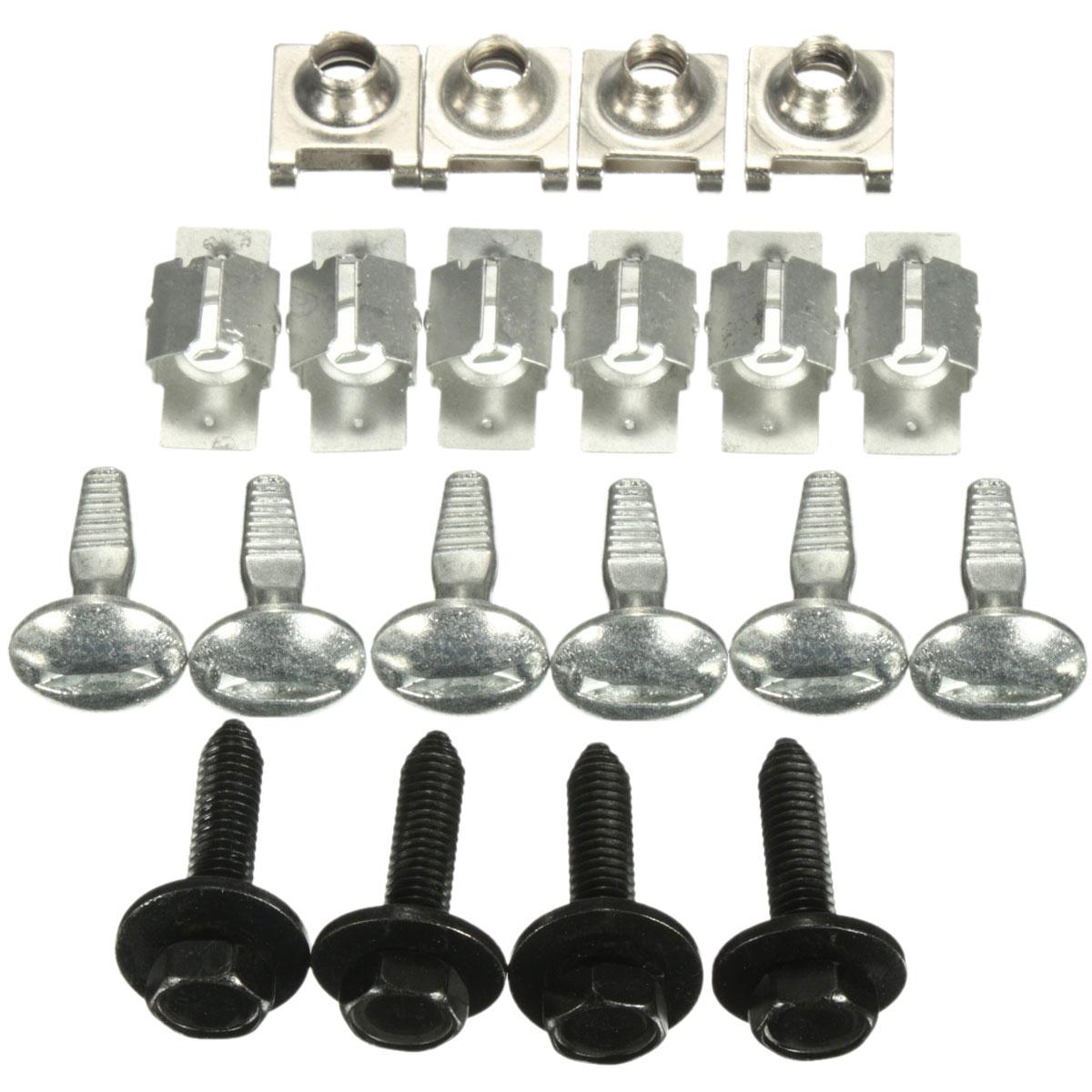 20 шт крышка двигателя крепежный фитинг зажимов комплект винтов для Citroen C5 для Peugeot 407