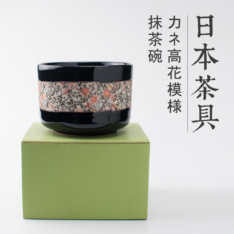 Japanese ceremony tea sakura cherry matcha single ceramic bowl Mino burn large handmade crude pottery green tea chawan set