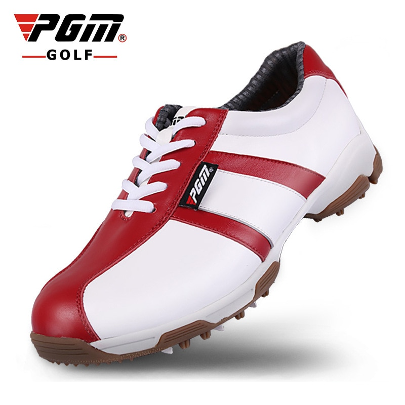 2018 nuevos zapatos de golf PGM para mujer, zapatos de golf doble patentados, impermeables, antideslizantes, zapatillas antideslizantes lado Yan