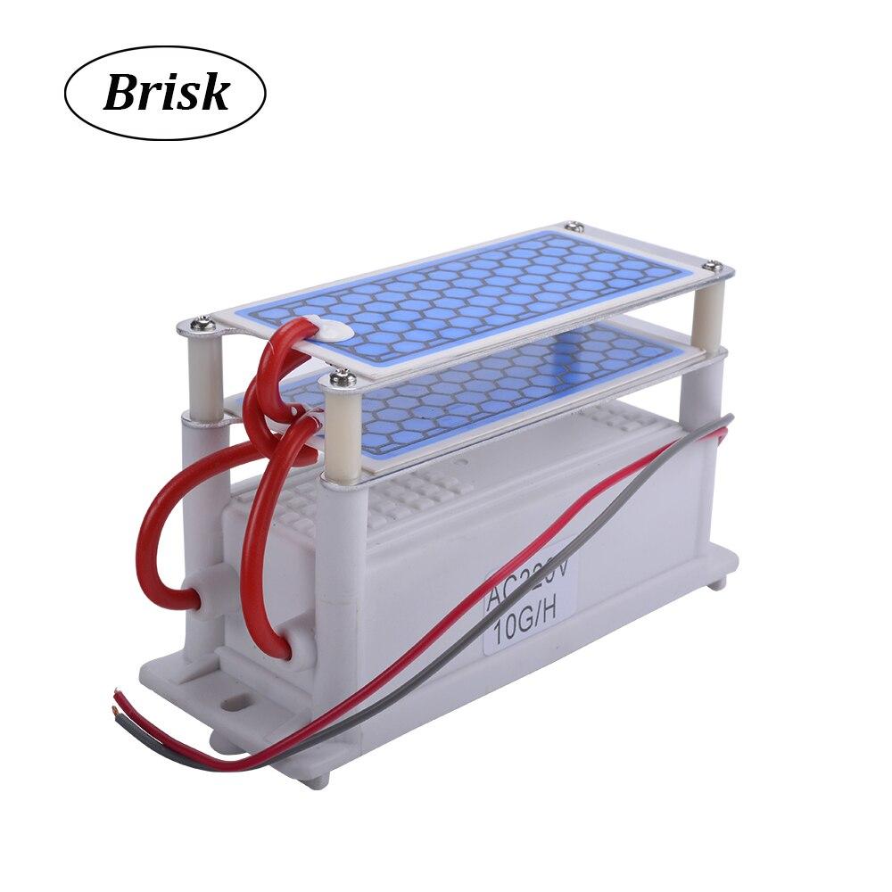 Brisk Tragbare Keramik Ozon Generator Doppel Integrierte Keramik Platte Ozonisator Luft Wasser Luftreiniger Teile 220V/110V 10g 02