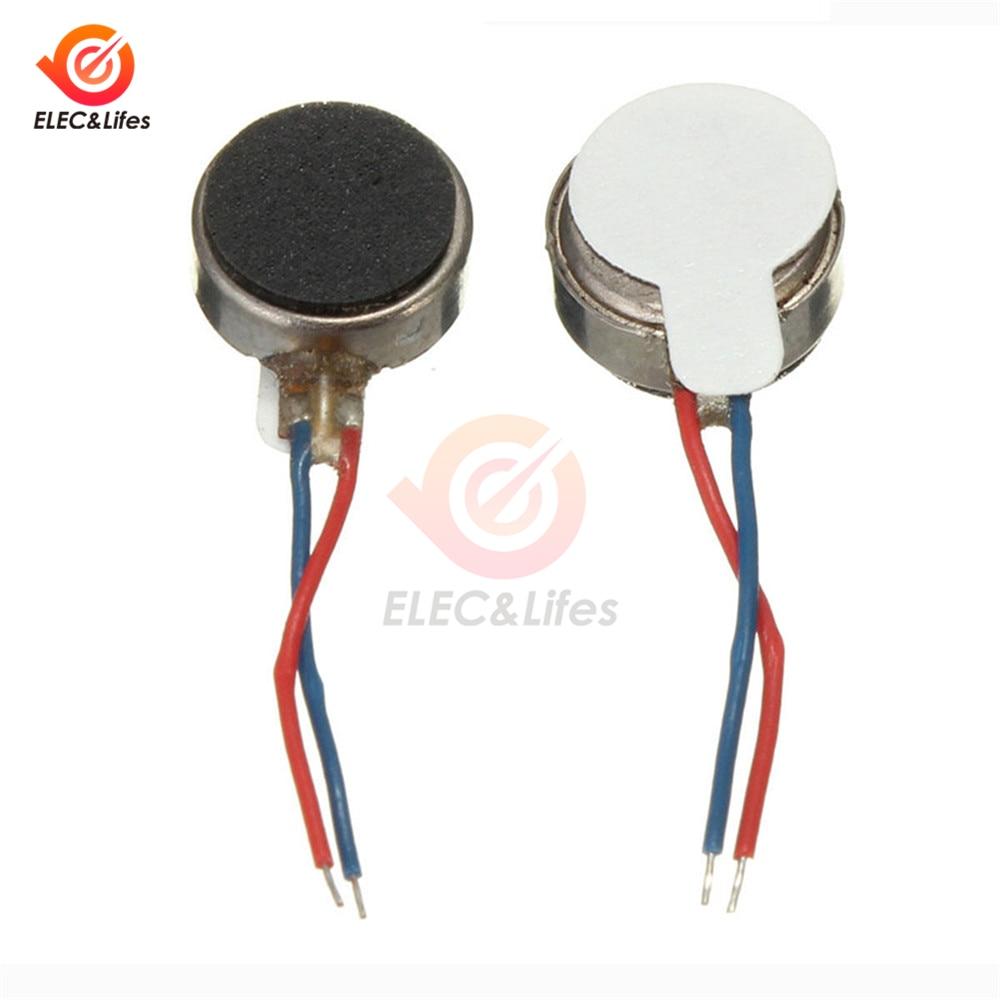 5 pces dc 3v 8*3.4mm mini motor de vibração micro pager telefone moeda plana vibrando dc motor 12000 rpm 2500rpm