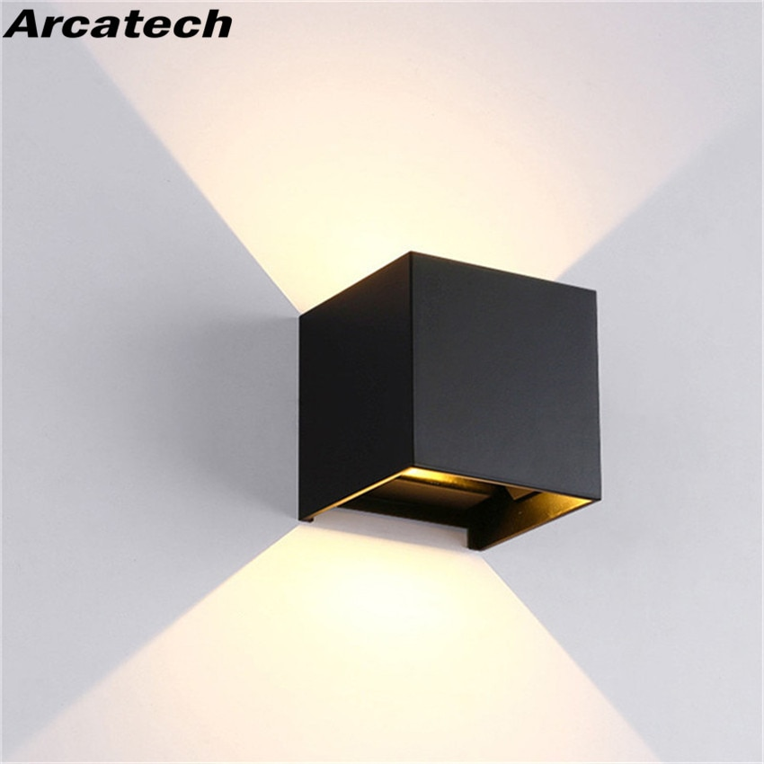 LED Wall Lamp IP65 Waterproof Indoor & Outdoor Aluminum Wall Light Surface Mounted Cube LED Garden P
