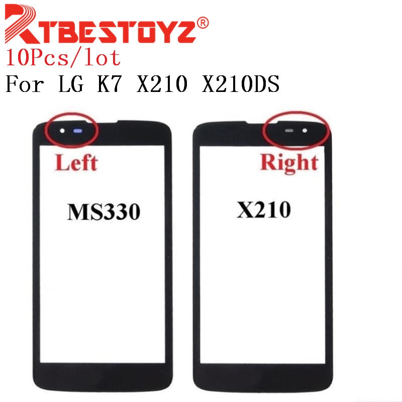 RTBESTOYZ 10 шт передний экран внешняя стеклянная сенсорная внешняя крышка панель объектив для LG K7 X210 X210DS MS330 Tribute 5 LS675 сенсорный экран