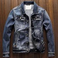high quality mens jean jackets and coats single breasted xxxl automotive designer brand mans overcoats european streetwear a218
