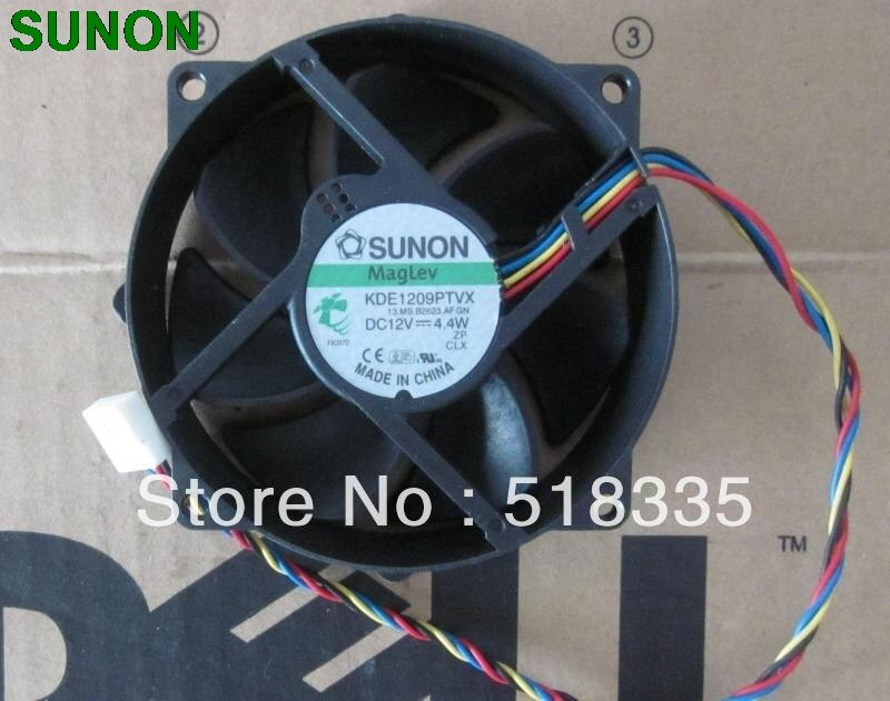 Para Sunon 9CM 8CM 8025 9225 90/80mm x 25mm KDE1209PTVX Maglev Cooler Ventilador de Refrigeração 12V 4.4W