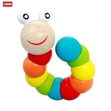 Caterpillar madera juguete bebé mágico de niño variedad giro de juguetes educativos para niños de torsión gusano Juguetes