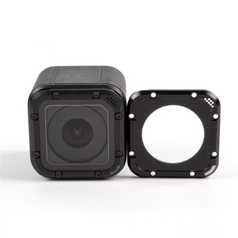 Substituição da tampa da lente da câmera gopro hero 4 session caso adaptador de anel de vedação com a ferramenta para gopro hero 4 session