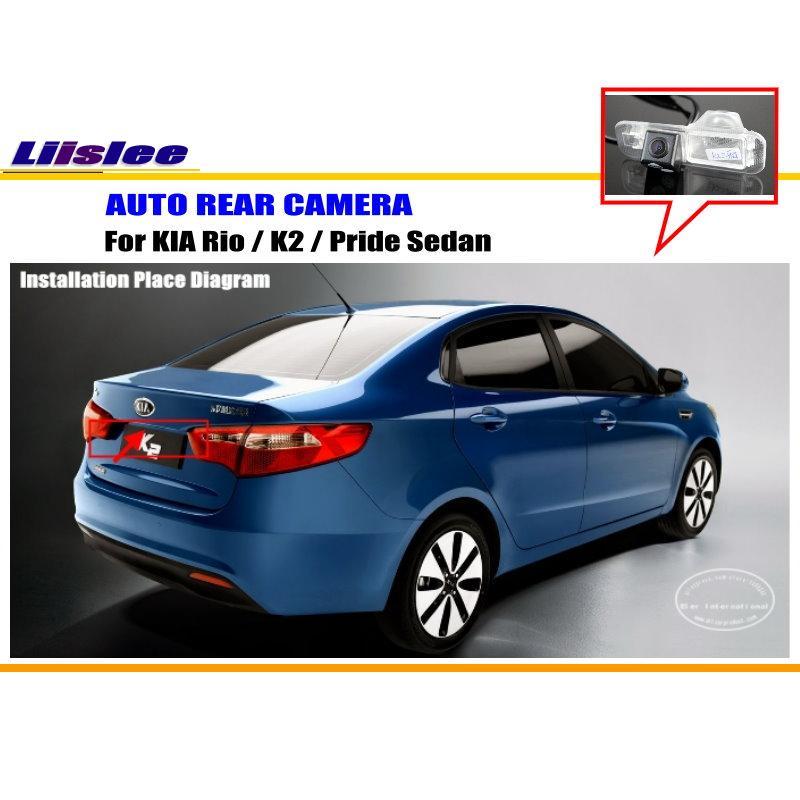 Автомобильная камера заднего вида для KIA Rio / K2 / Pride Sedan, Автомобильная камера заднего вида, Автомобильная камера HD, автомобильные аксессуары