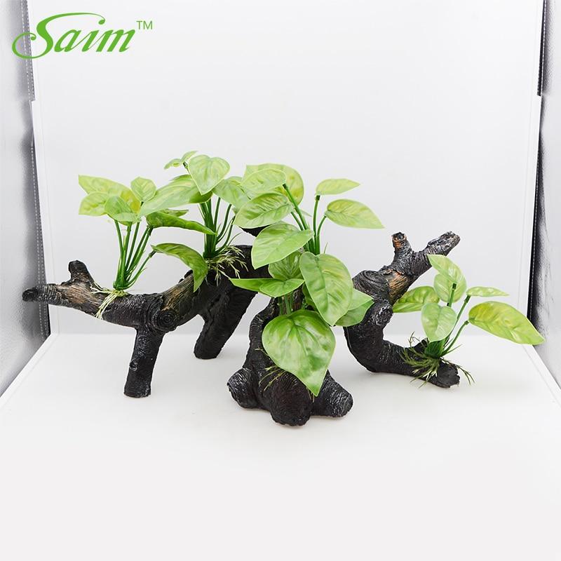 Saim-plante artificielle Style arc   Aquarium, plantes à émulation, Acuario, décoration daquarium en bois, Aquarium à poissons Large