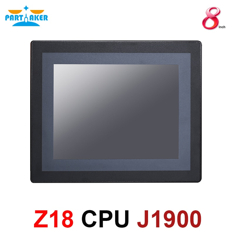 8 Inch LED IP65 Industrial Touch Panel PC All in One Computer With Resistance Touchscreen Intel Celeron J1900 Dual Lan