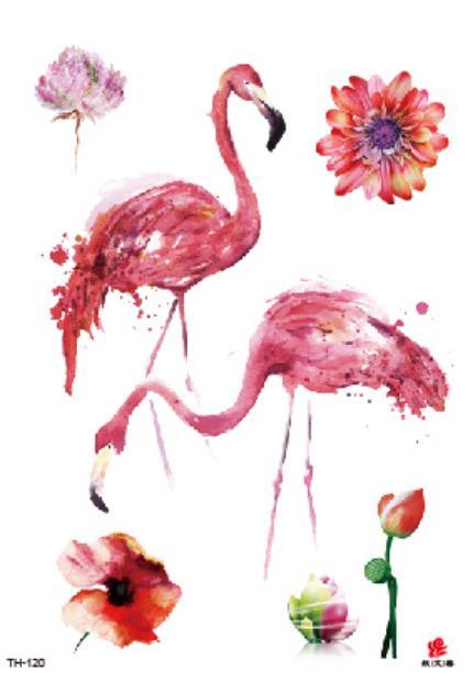 Tatuaje temporario falso del tatuaje etiqueta engomada del tatuaje-pájaro flor tatuajes de rosas pegatinas Tatouage impermeable Flash tatuaje para mujeres chica