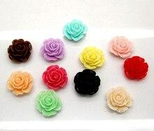 Cabochon de fleurs en résine mélangée   50 pièces, perles de Rose, décoration artisanat, Cabochon Flatback Scrapbooking adapté aux embellissements pour téléphone, accessoires bricolage