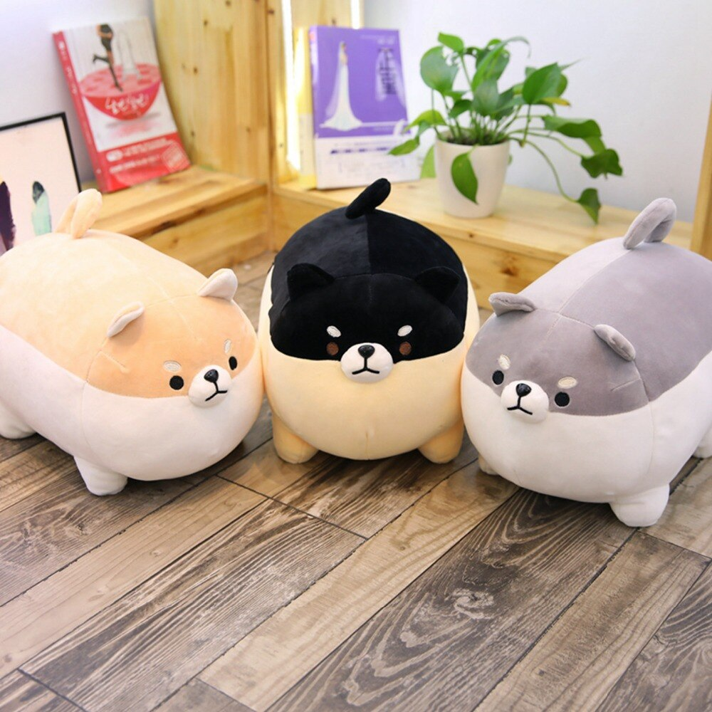 1PC New 40cm Cute Shiba Inu Dog Plush Toy Stuffed Soft Animal Corgi Chai Pillow Christmas Gift for Kids Kawaii Valentine Present недорого