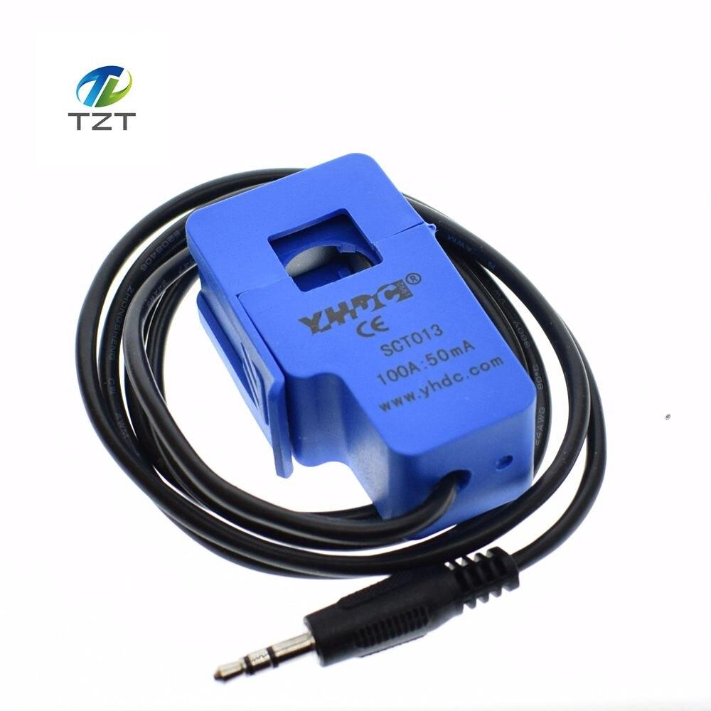 Неинвазивный трансформатор переменного тока с разделением сердечника, 1 шт., датчик переменного тока 100A, SCT-013-000