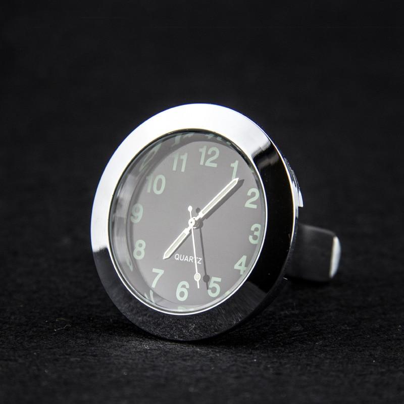 Reloj de calibre automático, reloj de cuarzo con salida de aire para coche luminoso con clip, Mini orificio de salida de aire de automóvil, reloj de estilo para coche Audi A1 A3 A4 Quattro