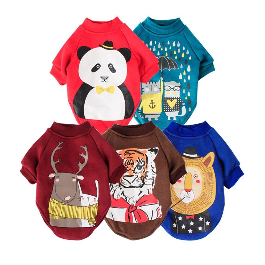 Disfraz para mascota con estampado de dibujos animados, ropa para perros de Otoño/Invierno, abrigo pequeño para perro de marca para gatos Chihuahua XS S M L XL XXL, suministros para mascotas