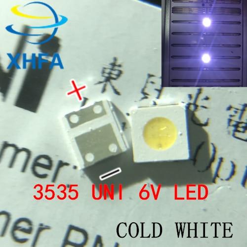 100PCS FÜR WOOREE UNI led hintergrundbeleuchtung LCD TV perle 3 V 6 v 1 W 3535 LED SMD Lampe perle 3535 kalt weiß Leuchtperlen    -
