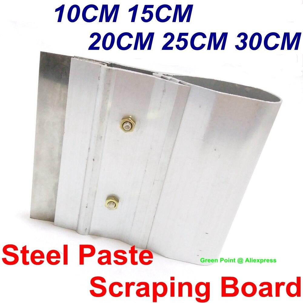 10CM 15CM 20CM 25CM 30CM stali nierdzewnej wklej ściągaczki skrobanie pokładzie SMT wzornik skrobak cyny pasty lutowniczej nóż do skrobania