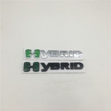 For Ford Hybrid Rear Tail Fender Emblems For Chevy For GMC For Hyundai Hybrid Logo Metal