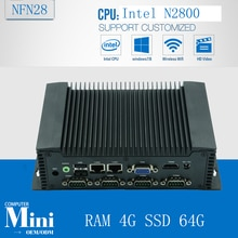 Ordinateur industriel Atom N2800 1.86 GHz plus récent Mini pc haute qualité fabricant contrôle avec RAM 4G SSD 64G